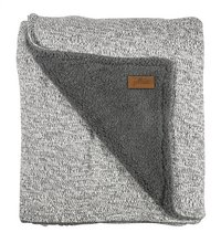 Jollein Deken voor bed stonewashed grey fleece