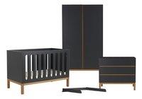 Quax Chambre de bébé 3 pièces avec armoire 2 portes Indigo moonshadow-Avant