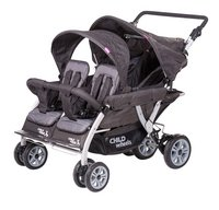 Childwheels Vierlingwandelwagen Quadruple 2 antraciet