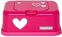FunkyBox Boîte à lingettes humides coeur fuchsia