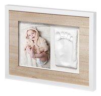 Baby Art 2-delig fotokader met gipsafdruk Tiny Style wooden line wit-Artikeldetail