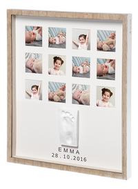 Baby Art Fotokader met gipsafdruk My Very First Year wooden line bruin-Artikeldetail
