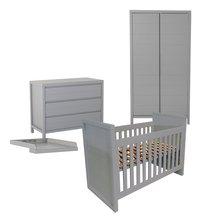 Quax Chambre évolutive 3 pièces avec armoire 2 portes Stripes griffin grey-Avant