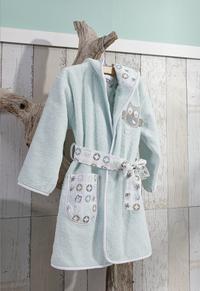 bébé-jou Sortie de bain Owl Family vert menthe taille 86/92-Image 3
