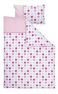 Little Dutch Housse de couette pour lit Mixed Stars pink coton
