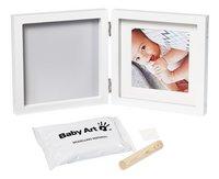 Baby Art 2-delig fotokader met gipsafdruk My baby style simple wit-Vooraanzicht