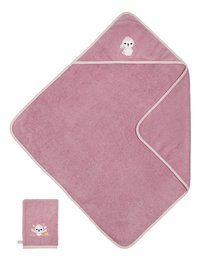 Dreambee Cape de bain et gant de toilette Lila & Lou Lila-Avant
