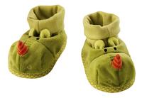 Lilliputiens Pantoffeltjes Walter groen 0 tot 6 maanden