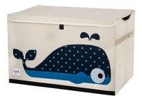 3Sprouts Coffre à jouets baleine