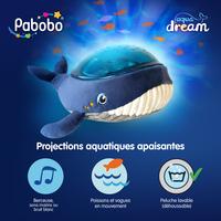 Pabobo Veilleuse/projecteur Baleine Aqua Dream-Avant