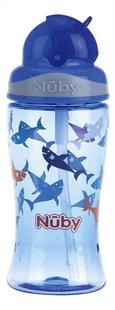 Nûby Drinkfles met rietje Flip-it 360 ml haai blauw-Vooraanzicht