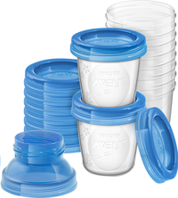 Philips AVENT 10 bewaarbekers van 180 ml