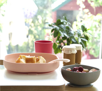 Béaba 4-delige eetset silicone roze-Afbeelding 1
