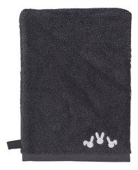 Dreambee Gant de toilette Nino gris foncé Lg 15 x L 21 cm - 2 pièces-Détail de l'article