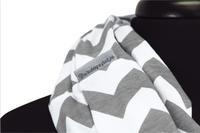 Itzy Ritzy Châle/écharpe d'allaitement Nursing Happens Infinity grey chevron-Image 2
