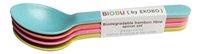 Biobu by Ekobo Cuillère Bambino bleu/rose/lime/orange - 4 pièces-Avant