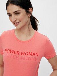 Mamalicious T-shirt à manches courtes Power Woman Sugar Coral-Image 1