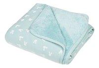 Dreambee Couverture pour berceau ou parc Nino menthe soft fleece-Avant