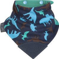 Isi Mini Bavoir/bandana Neckerchew à pression bleu marine Dino Friends