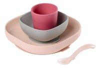 Béaba 4-delige eetset silicone roze-commercieel beeld