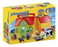 PLAYMOBIL Speelset 1.2.3 Meeneemboerderij met dieren-Vooraanzicht