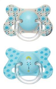Suavinex Sucette + 18 mois Fusion Turkey bleu - 2 pièces-Avant