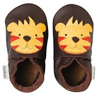 Bobux Chaussons Soft soles Tiger chocolate