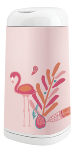 Angelcare Housse pour poubelle à langes Dress up flamingo rose