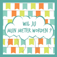 Minimou Sticker Balloons Wil jij mijn meter worden?