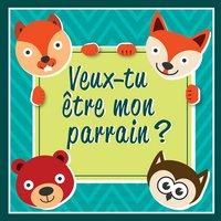 Minimou Sticker Foxes Veux-tu être mon parrain ?