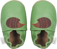 Bobux Chaussons Soft soles Fern Hedgehog vert/brun