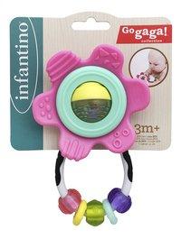 Infantino Bijtspeeltje Go Gaga Shake & Teethe Gummy Flower roze-Vooraanzicht