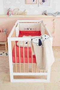 Noukie's Deken voor wieg of park Amy & Zoé ecru/roze polyester-Afbeelding 1