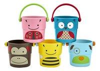Skip*Hop Jouet de bain Zoo Stack & Pour Buckets - 5 pièces-commercieel beeld