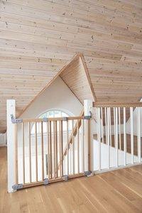 BabyDan Barrière de porte et d'escalier Elin Wood bois naturel-Image 1