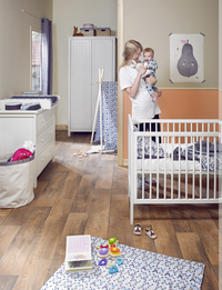 Quax Chambre de bébé 3 pièces avec armoire 2 portes Camille