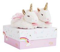 Doudou et Compagnie Pantoffeltjes Lucie de eenhoorn wit/roze-Artikeldetail