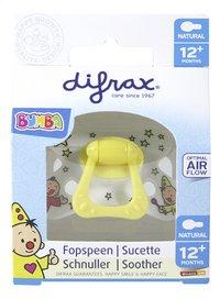 Difrax Fopspeen + 12 maanden Bumba Natural wit-Vooraanzicht