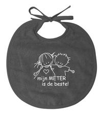 Rube & Rutje Slabbetje Mijn meter is de beste! taupe