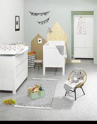 Troll Chambre de bébé 3 pièces avec armoire 2 portes Lukas