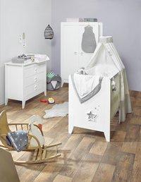 Noukie's 3-delige babykamer met kast met 2 deuren Poudre d'Étoiles