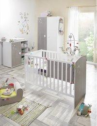 Sauthon Chambre de bébé 3 pièces avec armoire 2 portes Ana