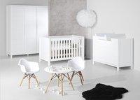 Quax Chambre évolutive 3 pièces avec armoire 3 portes Stripes blanc-Image 1