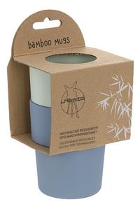 Lässig Oefenbeker bamboe mint/blueberry - 2 stuks-Linkerzijde