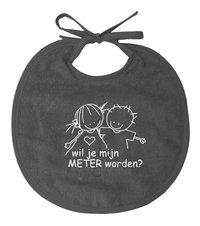 Rube & Rutje Bavoir Wil je mijn meter worden? taupe NL