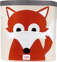 3Sprouts Opbergmand vos oranje-Vooraanzicht