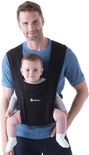 ERGObaby Buikdrager Embrace pure black-Afbeelding 1