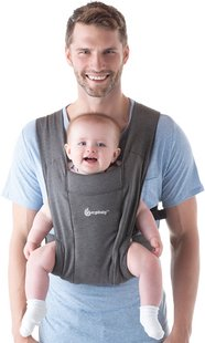 ERGObaby Porte-bébé ventral Embrace heather grey-Image 2
