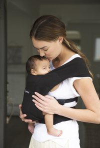 ERGObaby Buikdrager Embrace pure black-Afbeelding 4