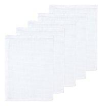 Dreambee Washandje Essentials wit B 16 x L 21 cm - 5 stuks-Vooraanzicht